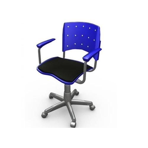 Cadeira Giratória secretaria com braço ergoplax