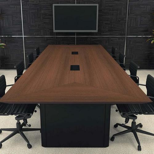 Mesa de reunião chanfrada