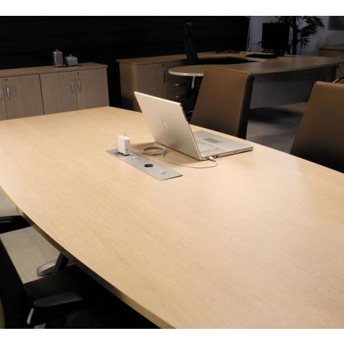 Mesa de reunião detalhe premium